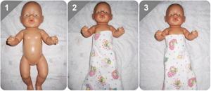 Схема пеленания ребенка