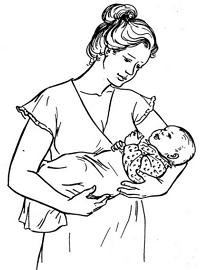 как правильно держать грудничка